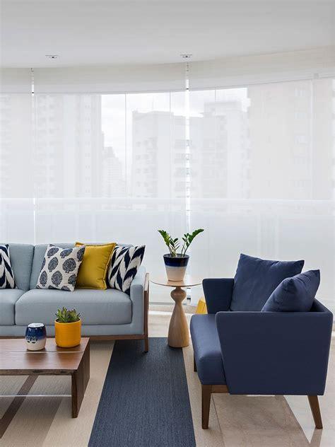 aconchegante  atemporal decorcasa sala  sofa azul