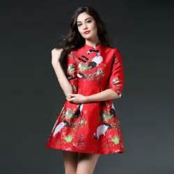 2017 vintage chinese fashion designer brand cheongsam ball