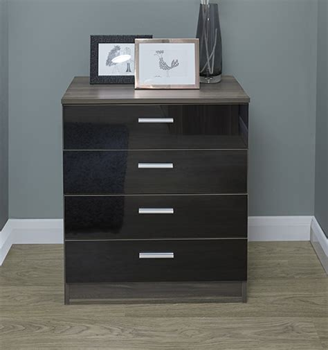 Black Bedroom Chest Of Drawers by Chest Of Drawers Black Gloss Walnut Bedroom Furniture 4