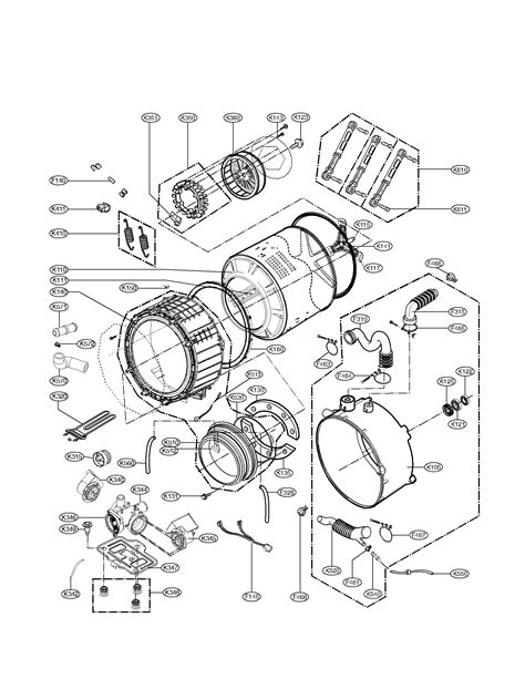 kenmore washer diagram drum and tub assembly parts diagram parts list for model