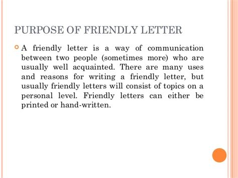 Introduction For Friendly Letter Friendly Letter Introduction Mediafoxstudio