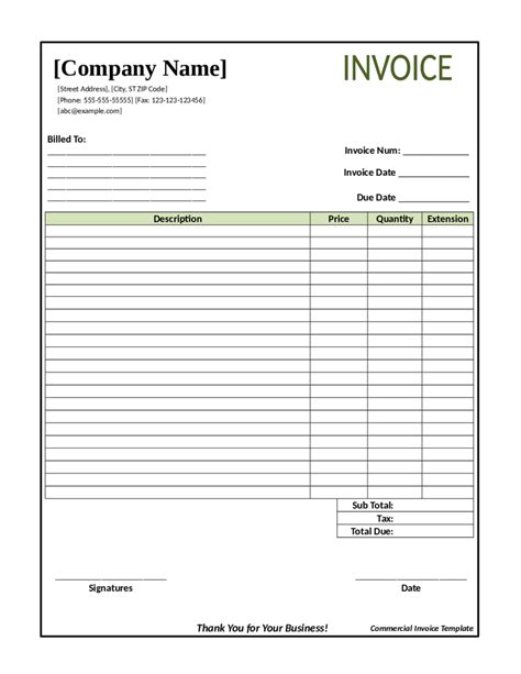 2018 Invoice Template Fillable Printable Pdf Forms Handypdf Blank Bill Template