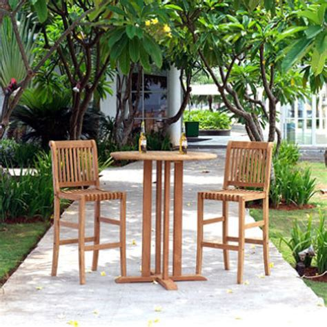 Patio Bistro Table Set Teak Bar Height 3 Pc Bistro Set Outdoor Furniture Patio Furniture Set New Patio Garden
