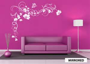 flowers butterfly vine wall sticker decal by 60secondmakeover
