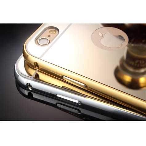 Casing Iphone 6 Plus Iphone 6 Alumunium Mirror Cermin Back Cove aluminium bumper with mirror back cover for iphone 6 plus