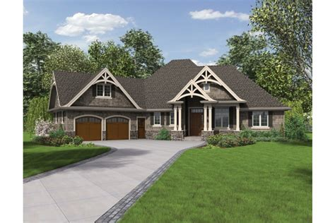 home plans craftsman home plan homepw76499 2233 square foot 3 bedroom 2 bathroom craftsman home with 2 garage bays