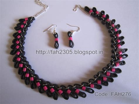How To Make Jewellery Out Of Paper - fah creations free form quilling figure 8 jewelry set