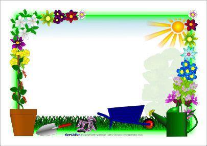 plant growing  page borders sb sparklebox