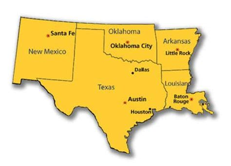 map of texas arkansas oklahoma and louisiana cliffprice companyareas of coverage cliffprice company