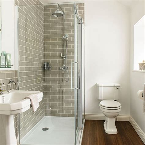 Bathroom Showers Uk Grey And White Tiled Bathroom Decorating Housetohome Co Uk