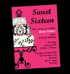 sweet 16 birthday invitation sweet sixteen by onewhimsychick