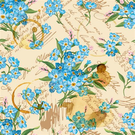 Vintage Flowers Pattern vintage flower wallpaper pattern free vector