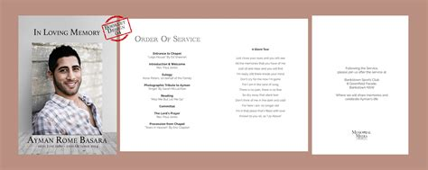 free templates for funeral service booklets funeral order of service booklets memorial media sydney