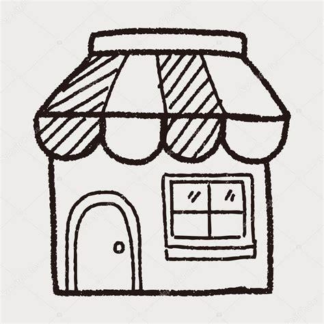 doodlebug shop winkel op te slaan doodle tekening stockvector 169 hchjjl