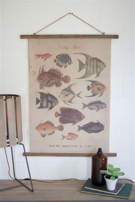 Tropical Home Decor Accessories Canvas Tropical Fish Modern Furniture Brickell Collection