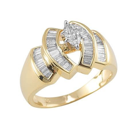 10kt yellow gold 3 4cttw ring jewelry rings