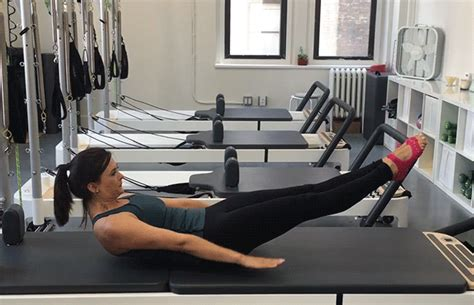 5 pilates at home exercises borrowed from the reformer