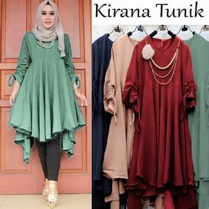 Blouse Lengan Panjang Baju Atasan Wanita Tunik Songket Top 281 baju tunik atasan wanita blouse lengan panjang modis