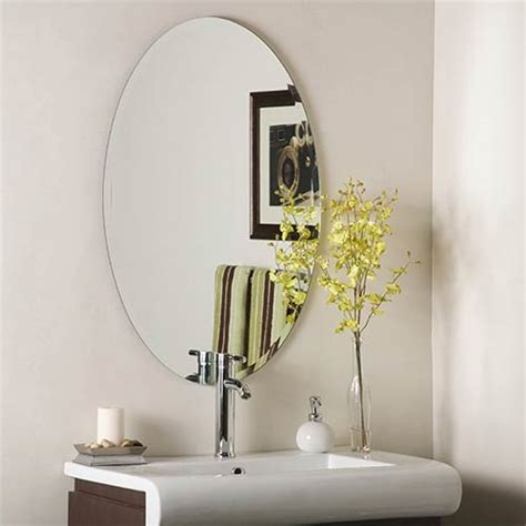 Frameless Beveled Mirrors For Bathroom Frameless Mirrors 4 Less Oval Rectangle Square Beveled
