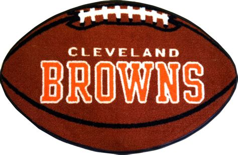 Cleveland Browns Rug by Nfl Cleveland Browns Football Accent Shaped Rug Modern Rugs