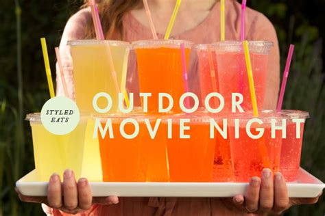 backyard movie night ideas styled eats food for an outdoor movie night