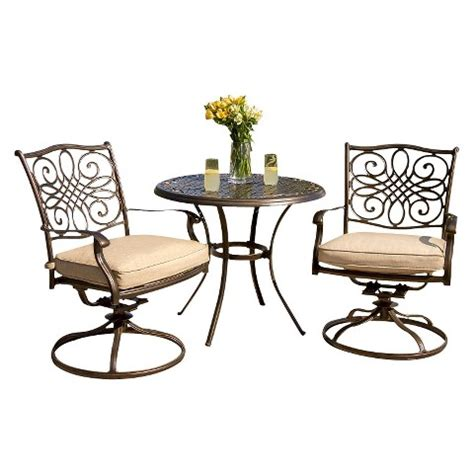 bistro set outdoor furniture traditions metal 3 patio bistro furniture set target