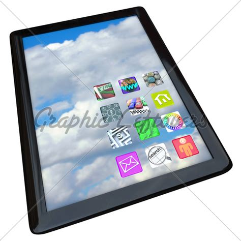 Notepad Computer With App Icons · GL Stock Images