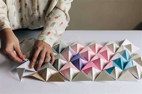 Pyramid Cornice Un Quadro Tridimensionale Con Gli Origami Fai Da Te