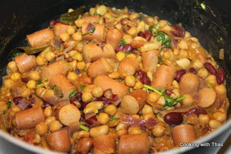 hot dog masala hot dog and mixed beans masala cooking with thas