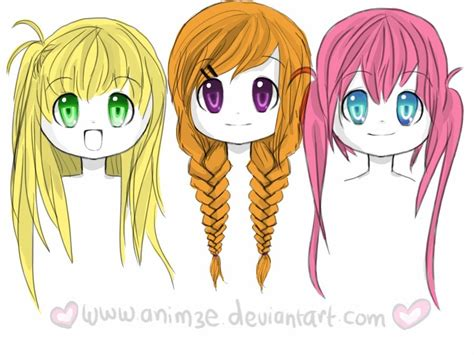 anime girl hairstyles anime girl hairstyles braids www pixshark com images