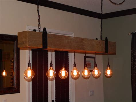 barn wood light fixtures reclaimed wood beam chandelier with edison globe lights