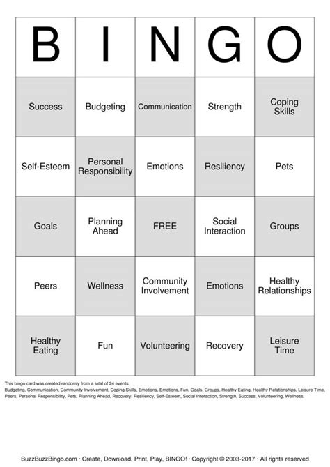printable recovery games substance abuse recovery bingo cards to download print