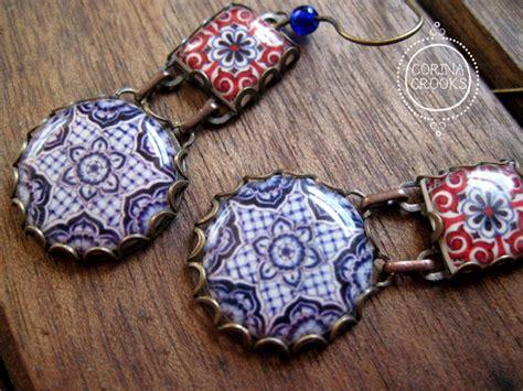 piastrelle spagnole orecchini design ceramiche portoghesi mattonelle spagnole