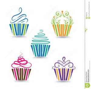 cupcake design template cupcakes set stock vector image 60954370