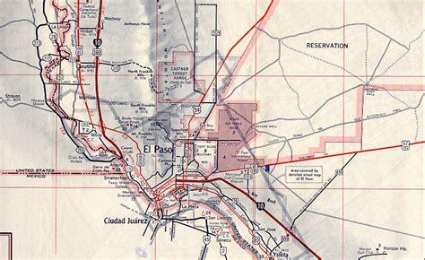 el paso map of texas texasfreeway gt el paso