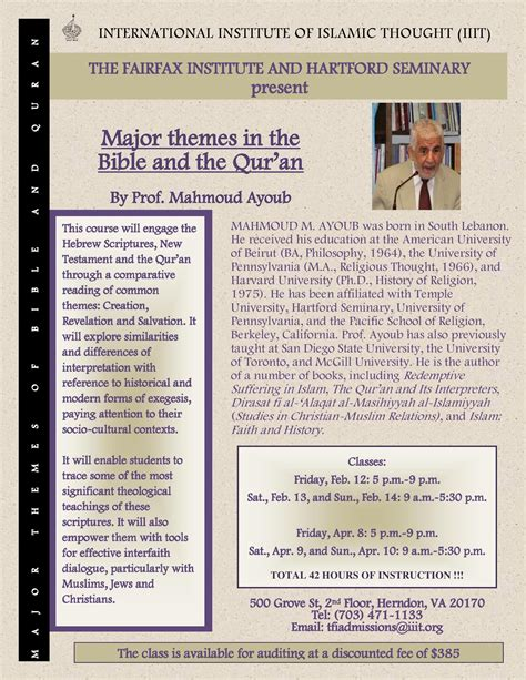 major themes in quran dr mahmoud ayoub major themes in the bible and the qur