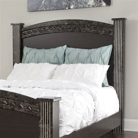 dark wood headboard queen ashley vachel wood full queen poster panel headboard in