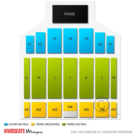caesars windsor floor plan the colosseum at caesars windsor tickets the colosseum