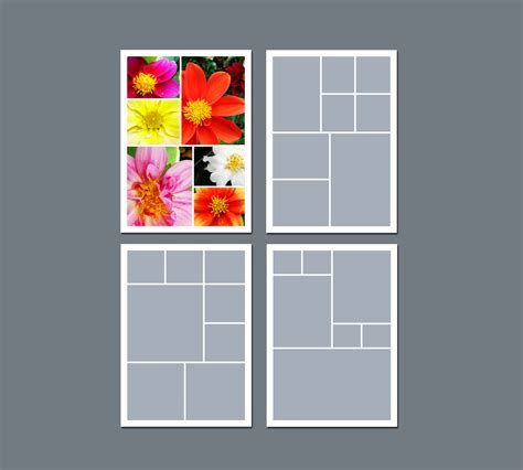 5 photo collage template instant photo collage template digital template