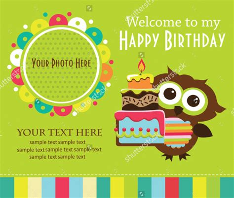 kid card template 22 beautiful birthday invitations free psd eps