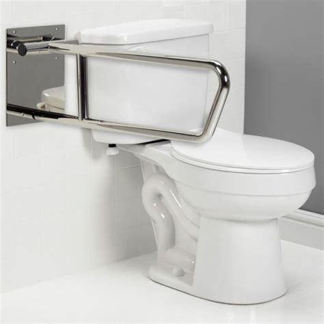 swing up freedom swing up toilet grab bar satin stainless 30 quot x 1