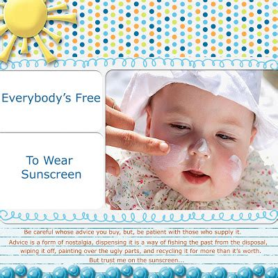 baz luhrmann everybody s free to wear sunscreen everybody s free to wear sunscreen pryde and
