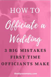 How To Officiate a Wedding: 3 Mistakes First Time
