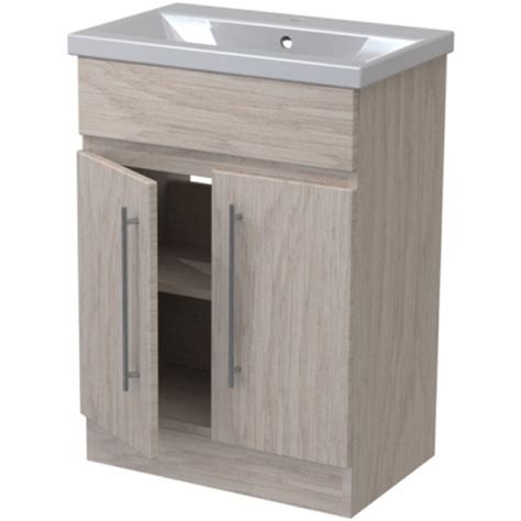 Atlanta Bathroom Furniture Atlanta Concepts Zest Floor Standing Vanity Unit 700mm Odessa Oak Odessa Oak
