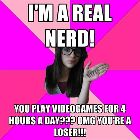 Girl Nerd Meme - idiot nerd girl memes create meme