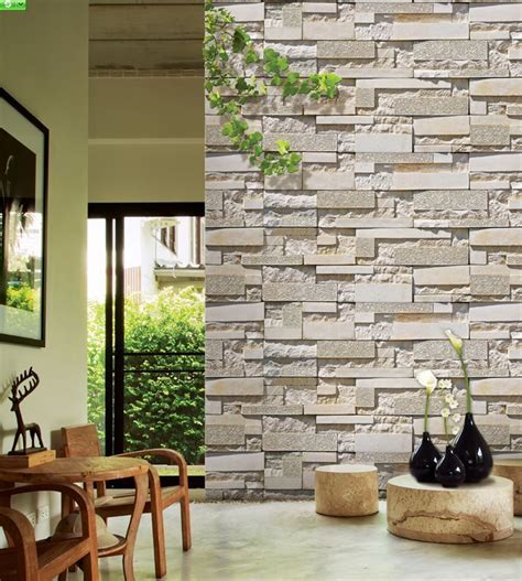 wallpaper 3d stone 3d cultured stone wallpaper for the home pinterest