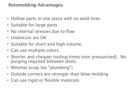 design for manufacturing advantages design for manufacturing class 7 part 1 rotomolding