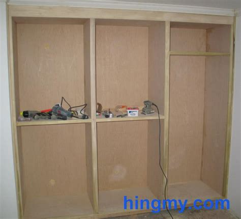 Building A Wardrobe Frame by Built In Closet Frame Construction