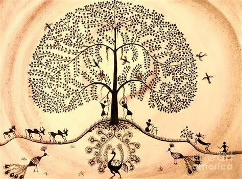 biography tree hindi tree of life ii painting by anjali vaidya