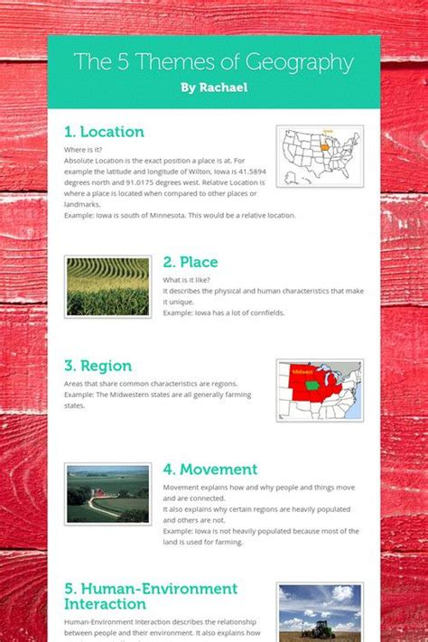themes of geography list 17 best images about 5 themes geography on pinterest